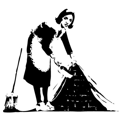 Wall sticker maid Banksy WLBS05