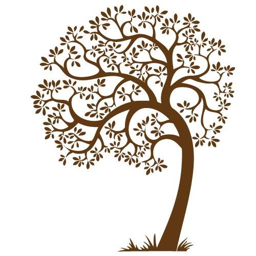 Sticker perete copac cu frunze WLC137