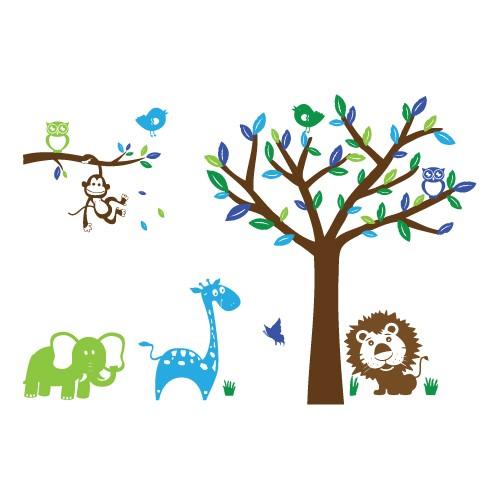 Sticker animale si copac WCA841