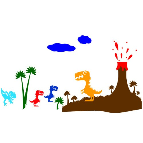 Wall sticker dino land WCA829