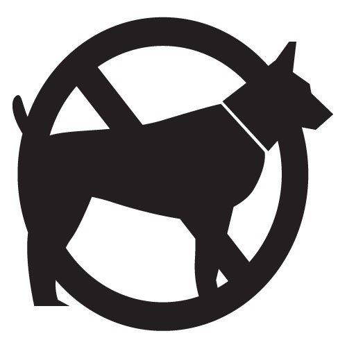 Wallsticker interzis caini