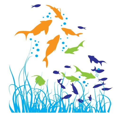 Sticker animale marine WCA831