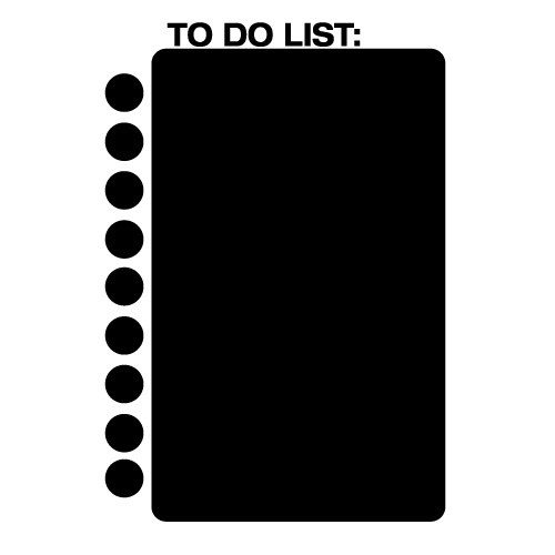 Sticker de scris cu creta to do list  WLTC19