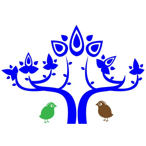 Sticker copac cu pasari WCA825