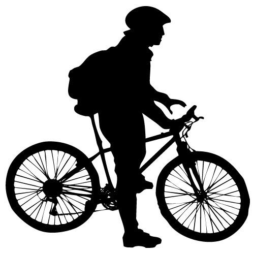 wallsticker decorativ biciclist