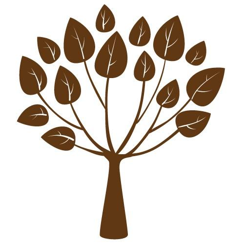stickere decorative copac