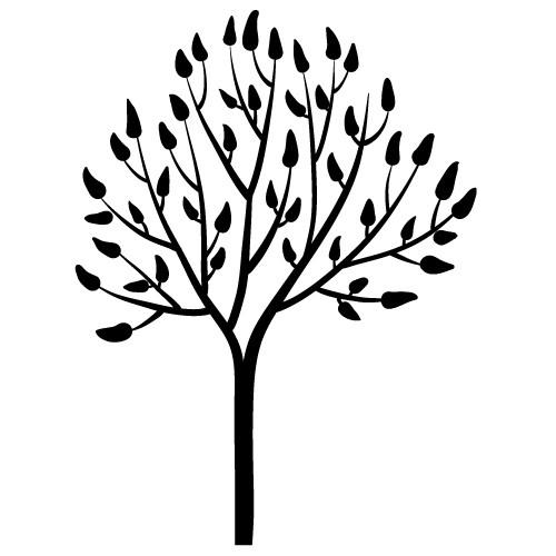 wallsticker decorativ copac cu frunze