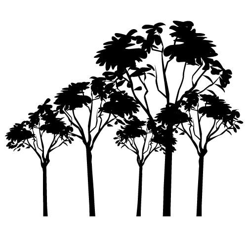 stickere de perete copaci