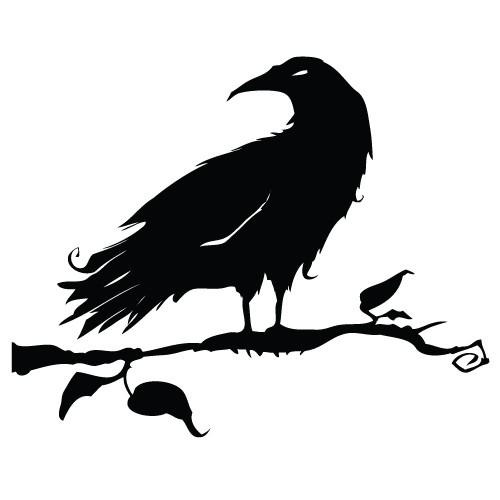 autocolant decorativ corb pe craca