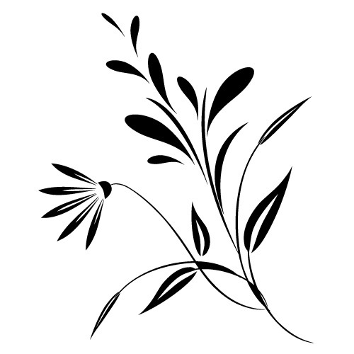 wallsticker decorativ floare