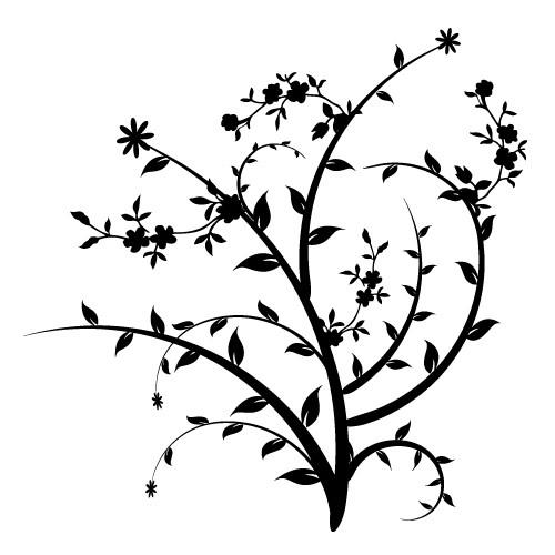 sticker decorativ cu floricele