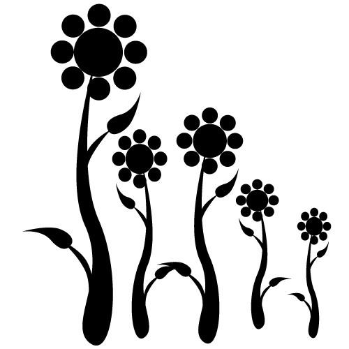 autocolante decorative de perete floricele
