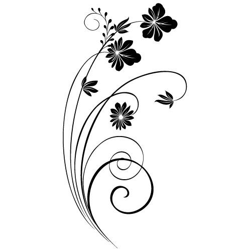 autocolant de perete floare