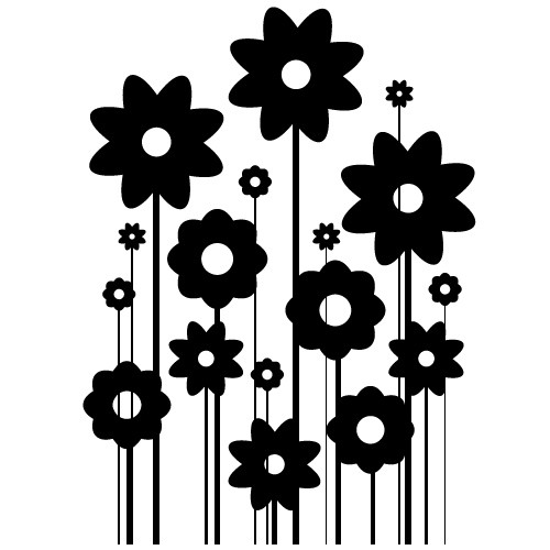 stickere decorative flori