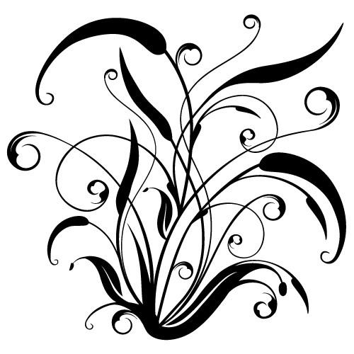 sticker de perete floare abstracta