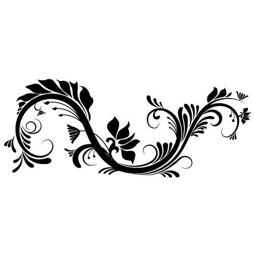 sticker decorativ floare abstracta