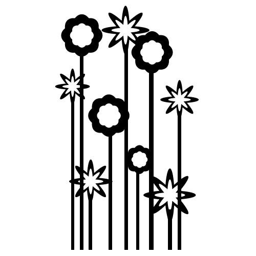 sticker de perete flori decorative