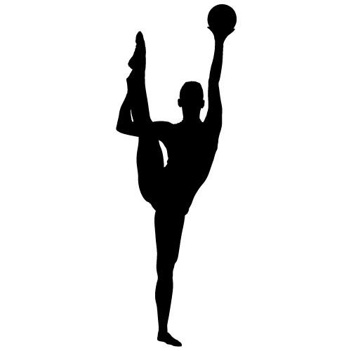 sticker de perete gimnasta cu minge