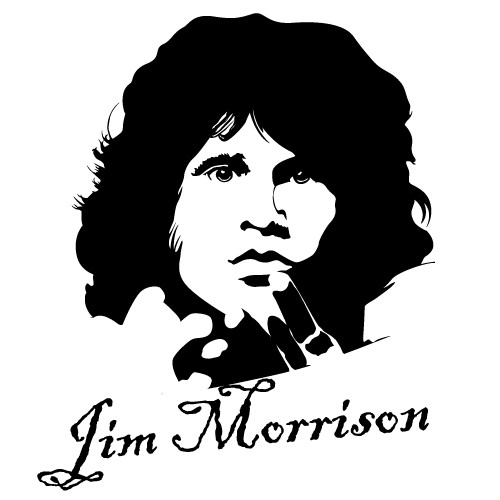 wallsticker jim morrison