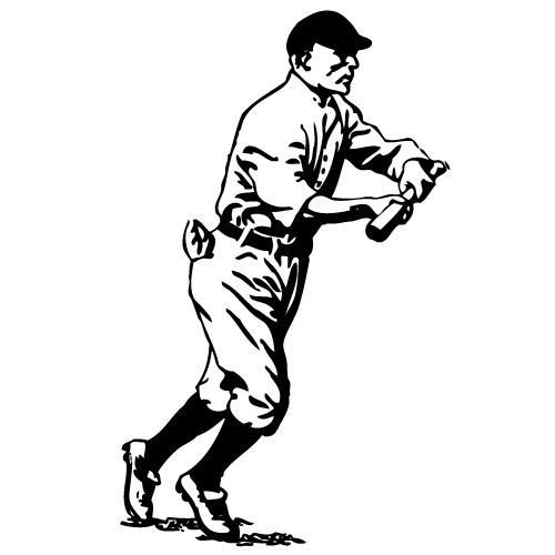 sticker de perete jucator baseball