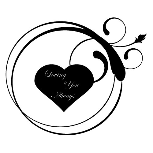 wallsticker decorativ loving you