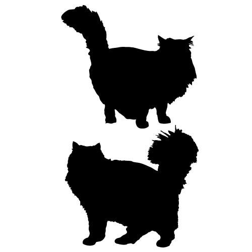 Sticker 2 pisici WCAC16