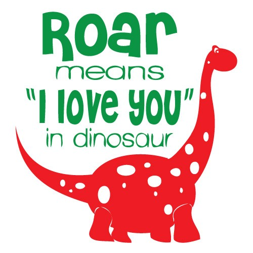 Sticker roar dinosaur WCA835