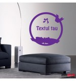 Wall sticker textul tau WLT305