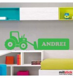 Sticker nume copil tractor WCNC04