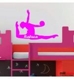 Sticker nume copil gimnasta WCNC09