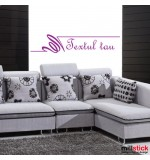 Wall sticker textul tau WLT311