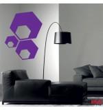 autocolant decorativ 3 hexagoane