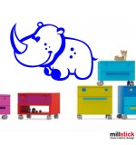 autocolant de perete rinocer