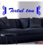 Wall sticker textul tau WLT317