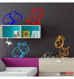 wall stickers animalute haioase