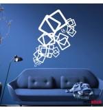 autocolante decorative patrate