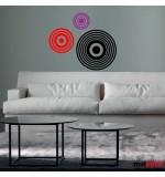 stickere decorative retro cercuri