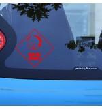 Sticker masina WM0041