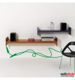 autocolant de perete decorativ cablu jack