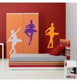 autocolant de perete 3 balerine