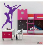 autocolant de perete balerini
