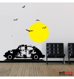 Sticker sunset beatle WLP102