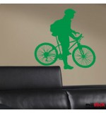 autocolant decorativ biciclist