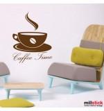 autocolant decorativ caffee time