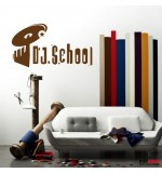 autocolant decorativ dj school