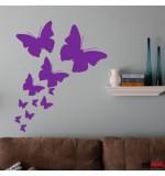 autocolant de perete fluturi