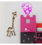 Sticker girafa cu elefant WCA508
