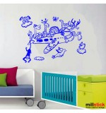 Wall sticker avionul vesel WCAV44
