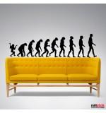autocolant decorativ human evolution