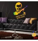 Sablon de perete James Bond SLCB13